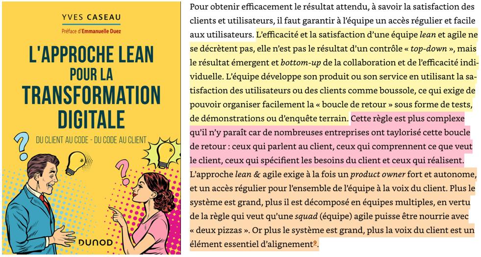 Source : L'approche Lean pour la transformation digitale - Yves Caseau - Dunod